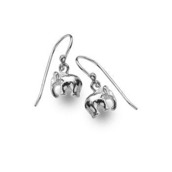 Sterling Silver Baby Elephant Earrings