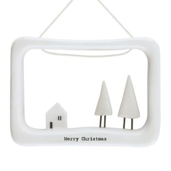 East of India Merry Christmas Porcelain Frame
