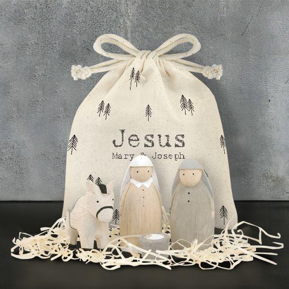 East of India Nativity Set - Jesus, Mary and Joseph
