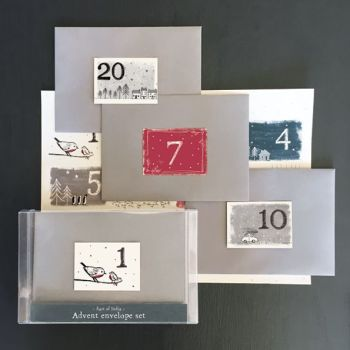 East of India Advent Envelope Set