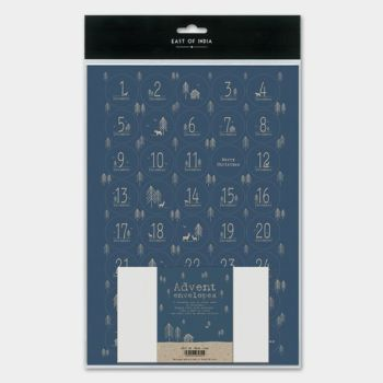 East of India Sticker Advent Set - Navy Forest