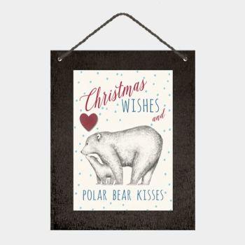 East of India Polar Bear Kisses Sign