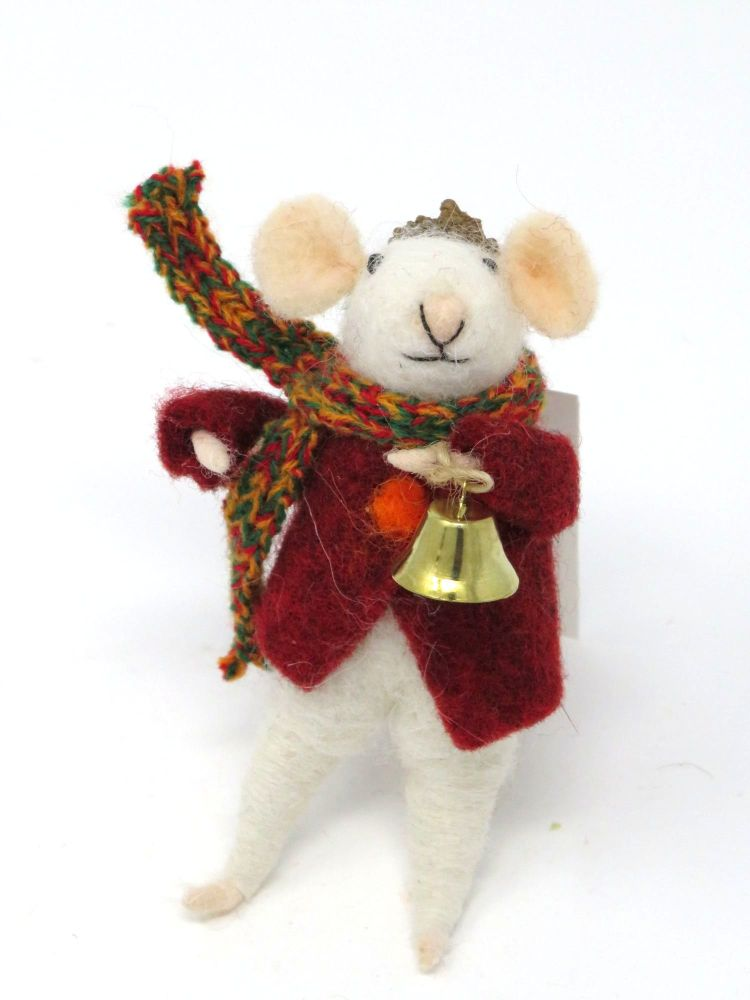 Felt Mouse with Acorn Hat and Bell