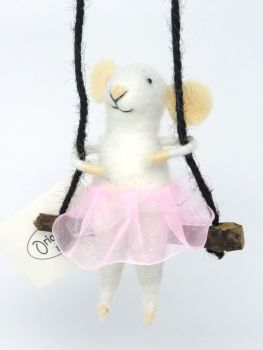 Girl Mouse on a Swing