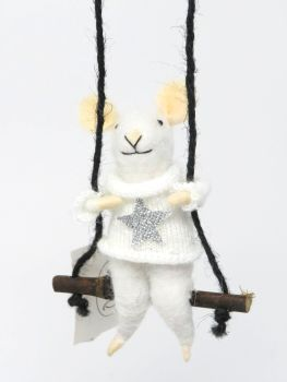 Boy Mouse on a Swing