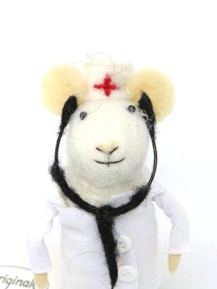Felt Doctor Mouse