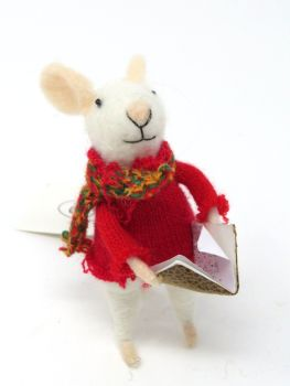 Felt Choir Singing Mouse