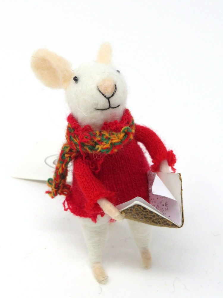 Felt Choir Singing Mouse