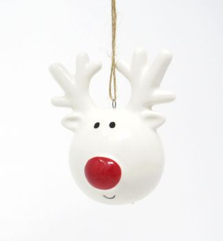 Ceramic Reindeer Head Decoration