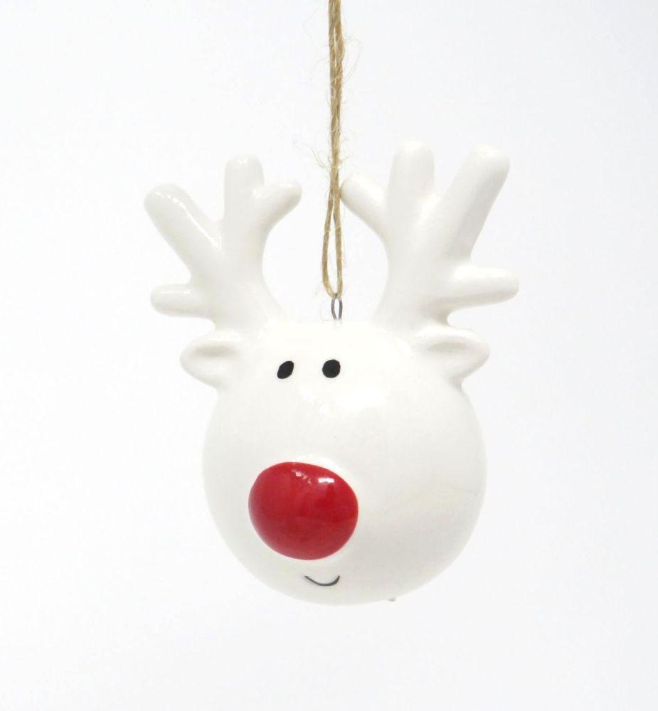 Ceramic Reindeer Head Decoration