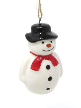 Ceramic Snowman Decoration