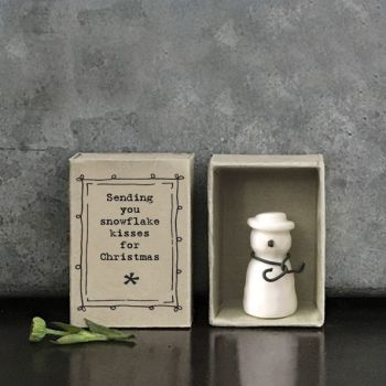 East of India Matchbox Snowman