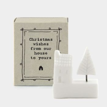 East of India Matchbox Christmas House