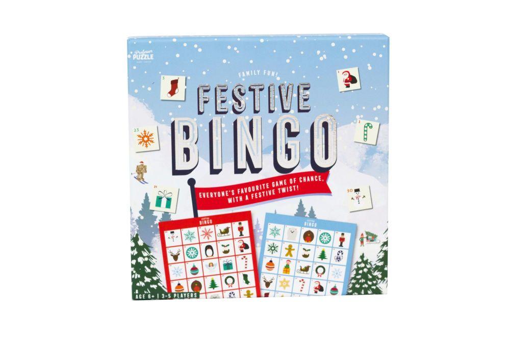 Professor Puzzle Festive Bingo