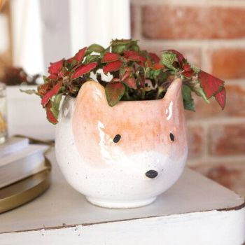 Ceramic Fox Planter