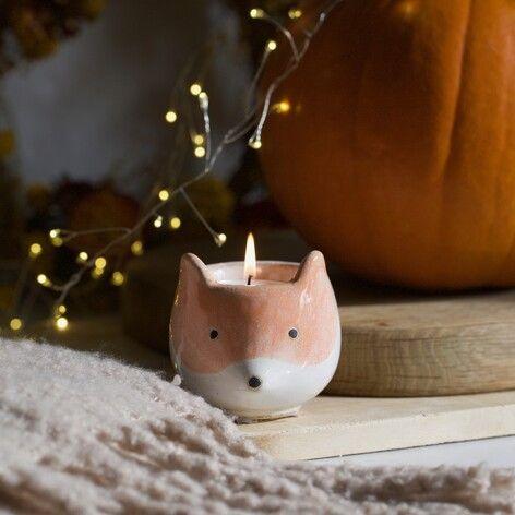 Ceramic Fox Tealight Holder