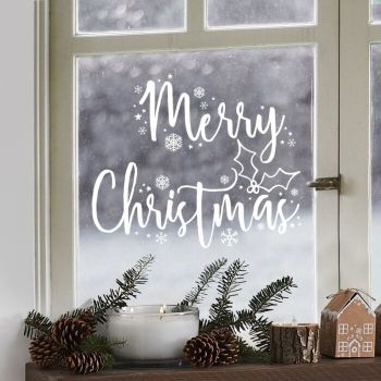 Ginger Ray Merry Christmas Window Sticker