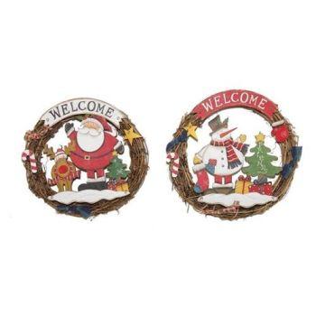 Folk Art Christmas Door Wreath - 2 Assorted Designs