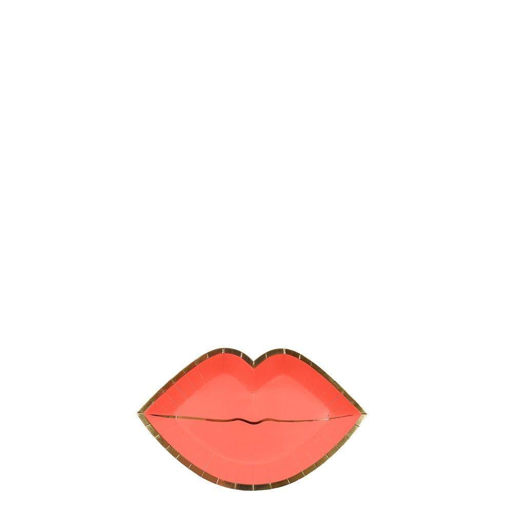 Meri Meri Pink Lips Canape Plates
