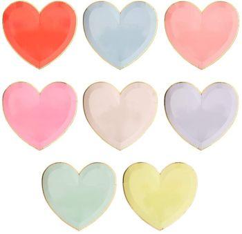 Meri Meri Large Heart Party Plates -Pack of 8