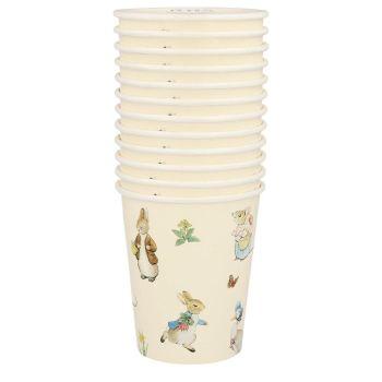 Meri Meri Peter Rabbit & Friends Cups - Pack of 12