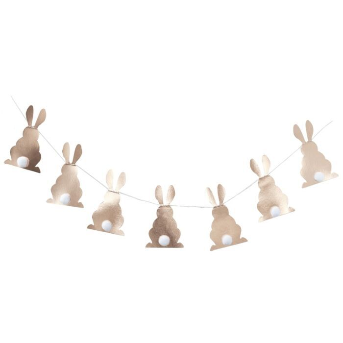 Ginger Ray  Rose Gold Pom Pom Bunny Bunting