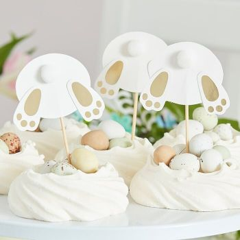 Ginger Ray Bunny Bum Cupcake Toppers