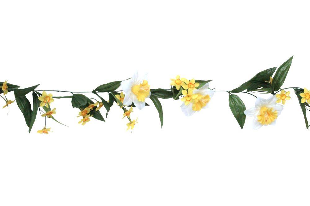 Gisela Graham Yellow and White Daffodil Garland