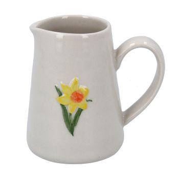 Gisela Graham Mini Ceramic Daffodil Jug