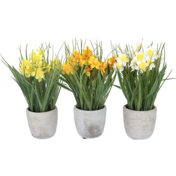 Gisela Graham Artificial Daffodils in a Pot