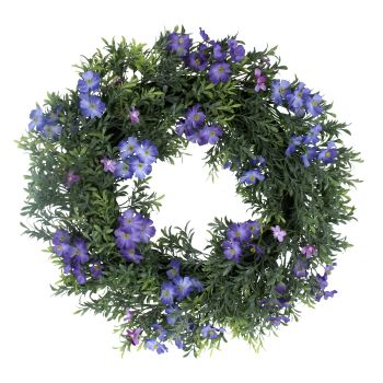Gisela Graham Forget Me Not and Box Leaf Wreath