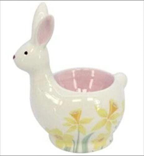 Gisela Graham Ceramic Bunny Egg Cup - Daffodil