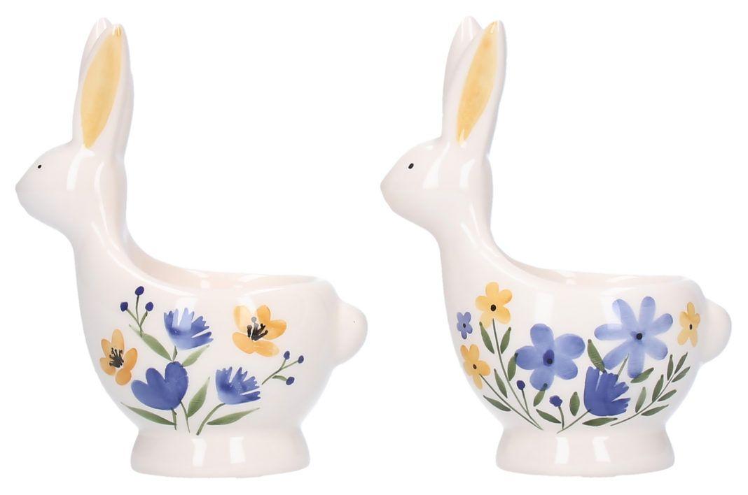 Gisela Graham Ceramic Bunny Egg Cup - Country Folk