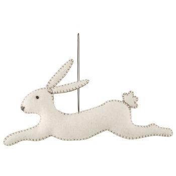 East of India Felt Leaping Bunny - Cream
