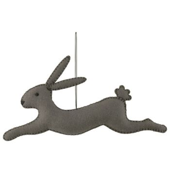 East of India Felt Leaping Bunny - Grey