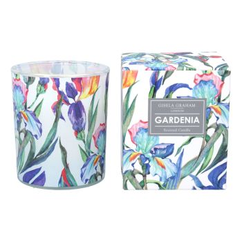 Gisela Graham Iris Design Boxed Candle