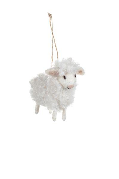 Woollen Serena Sheep Decoration