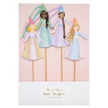 Meri Meri Princess Cake Toppers - Set of 4