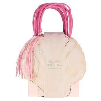 Meri Meri Mermaid Shell Party Bags - Pack of 8