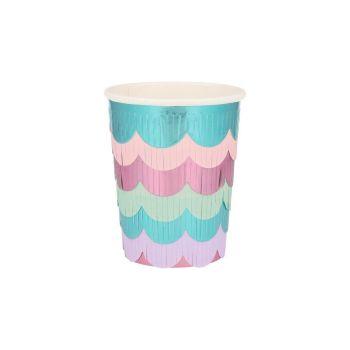 Meri Meri Mermaid Scalloped Fringe Cups
