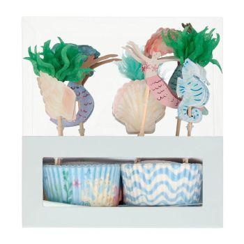 Meri Meri Mermaid Cupcake Kit