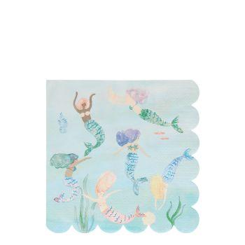 Meri Meri Mermaids Swimming Napkins - Pack of 16