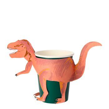Meri Meri Dinosaur T-Rex Party Cups - Pack of 8