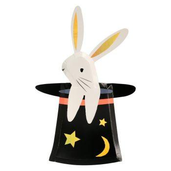 Meri Meri Magic Bunny in a Hat Plates - Pack of 8