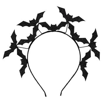 Ginger Ray Black Bat Halloween Headband