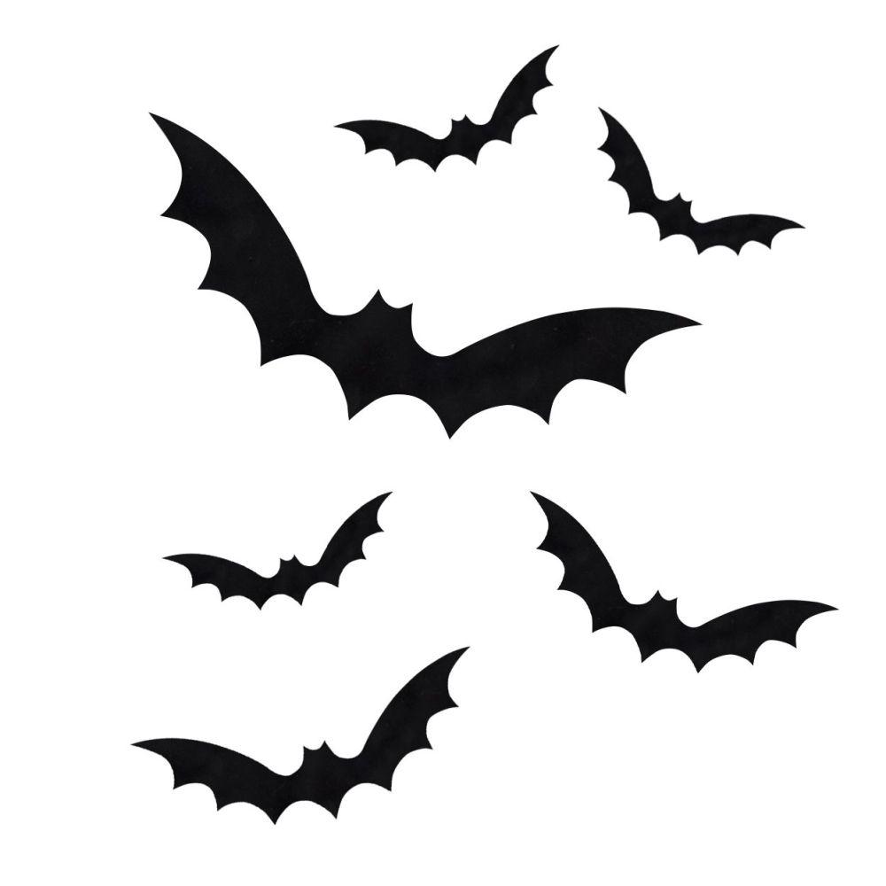Ginger Ray Black Bat Halloween Window Stickers