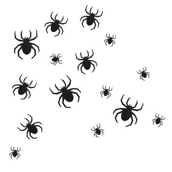Ginger Ray Halloween Spider Wall Decorations