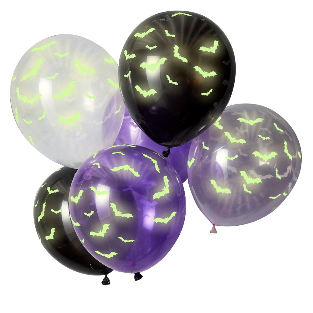 Ginger Ray Glow in the Dark Halloween Party Balloons