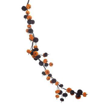Velvet Orange and Black Pumpkin Garland
