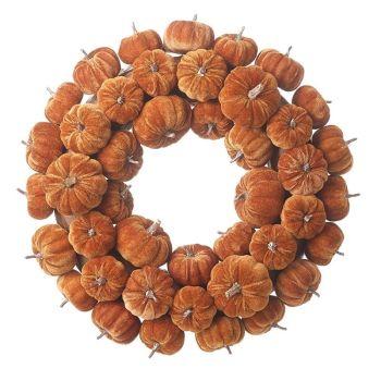 Large Velvet Pumpkin Wreath